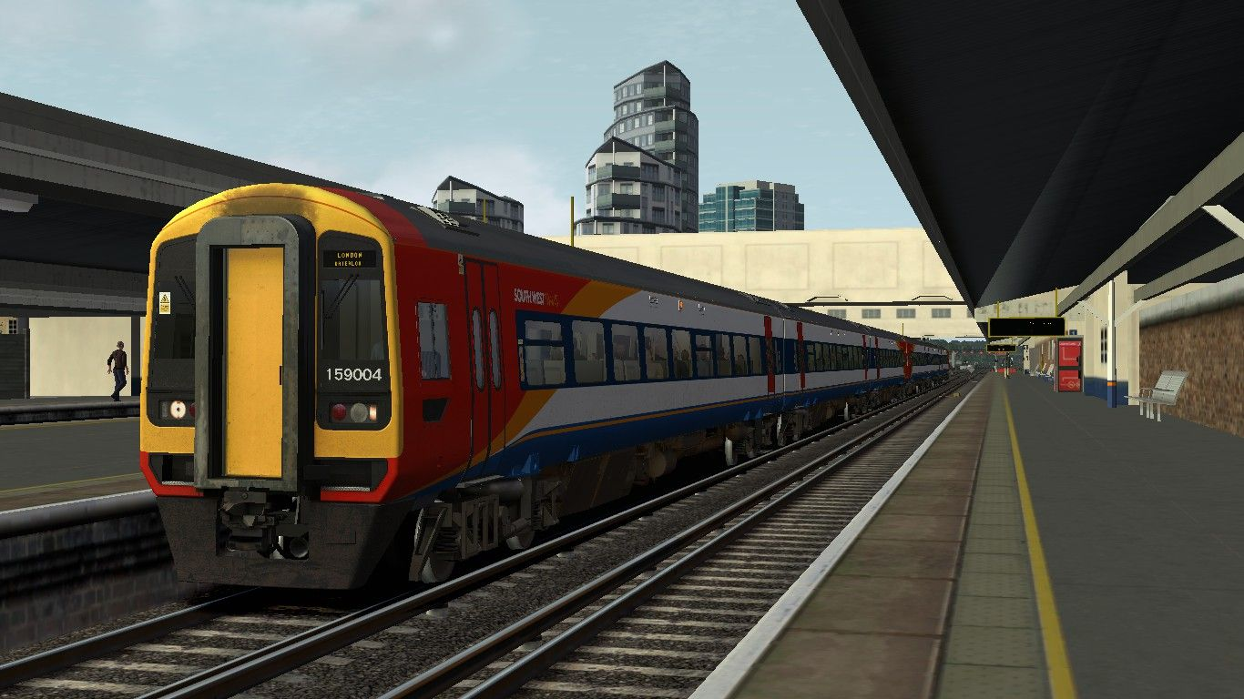 Image showing screenshot of the 1L14 - 0543 Salisbury to London Waterloo scenario