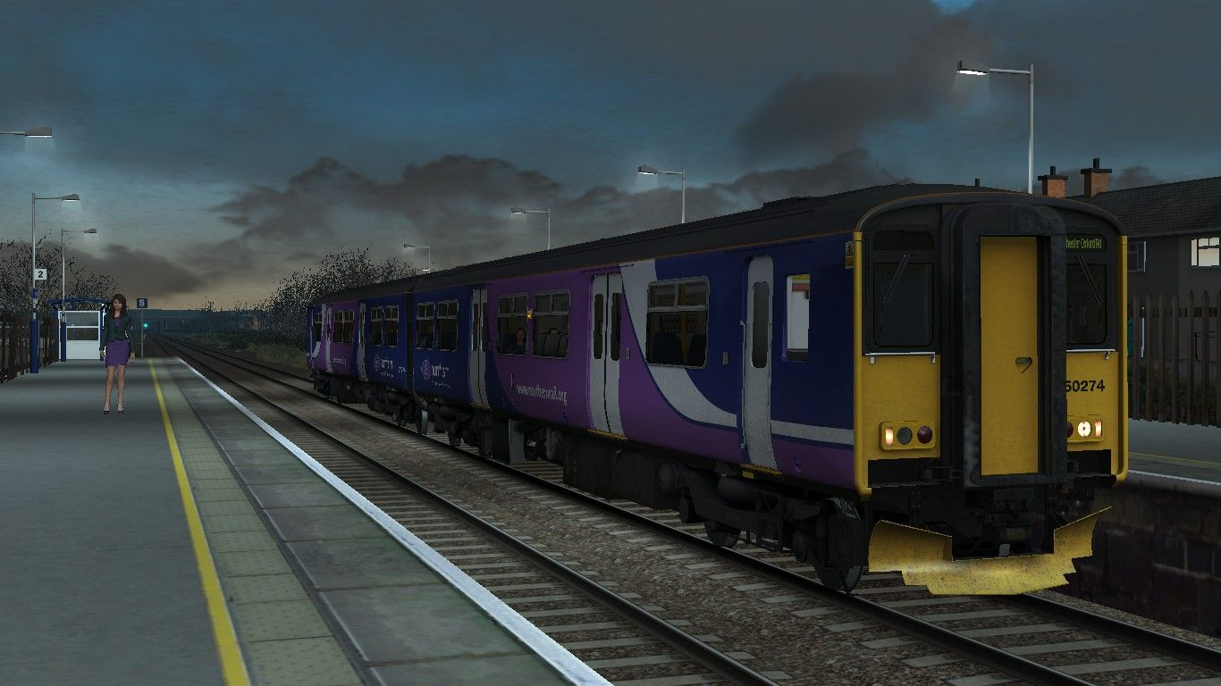 Image showing screenshot of the 5Z42 - 0735 Glazebrook to MAN Oxford Road scenario