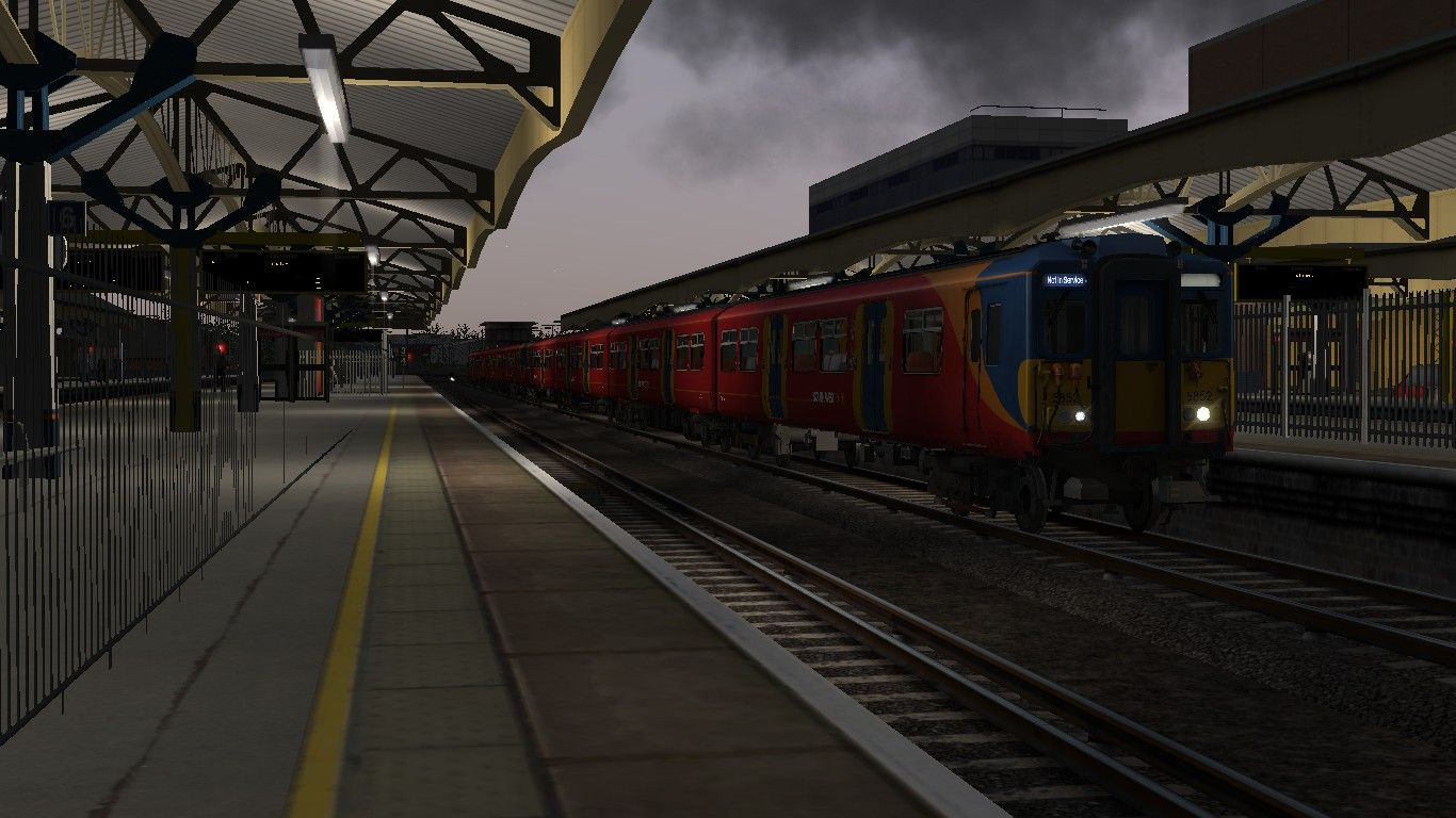 Image showing screenshot of the 5F07 - 0510 Wimbledon Park to Woking scenario