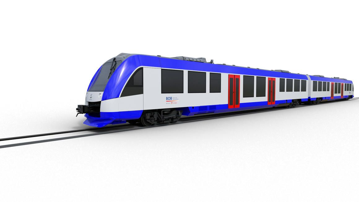 Artists impression of Alstom Coradia Lint train
