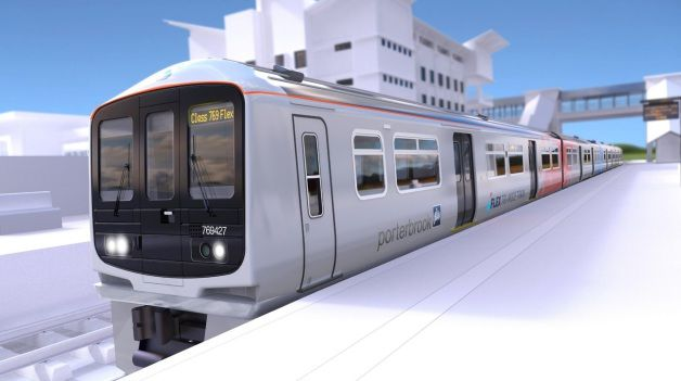 Artists impression of Porterbrook bi-mode FLEX train