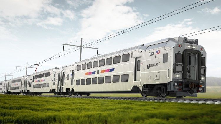 Artists impression of Bombardier Multilevel 3 commuter rail cars