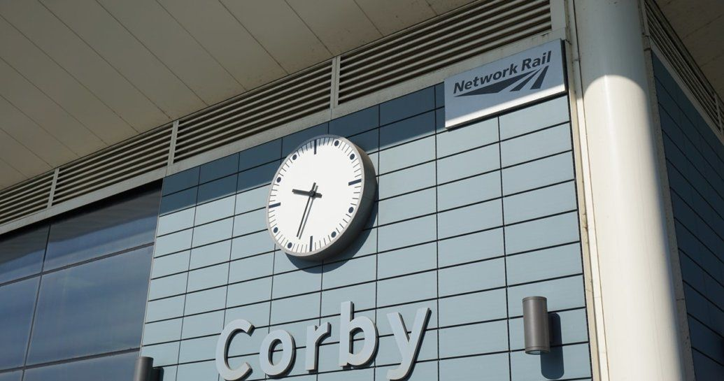 Corby station building