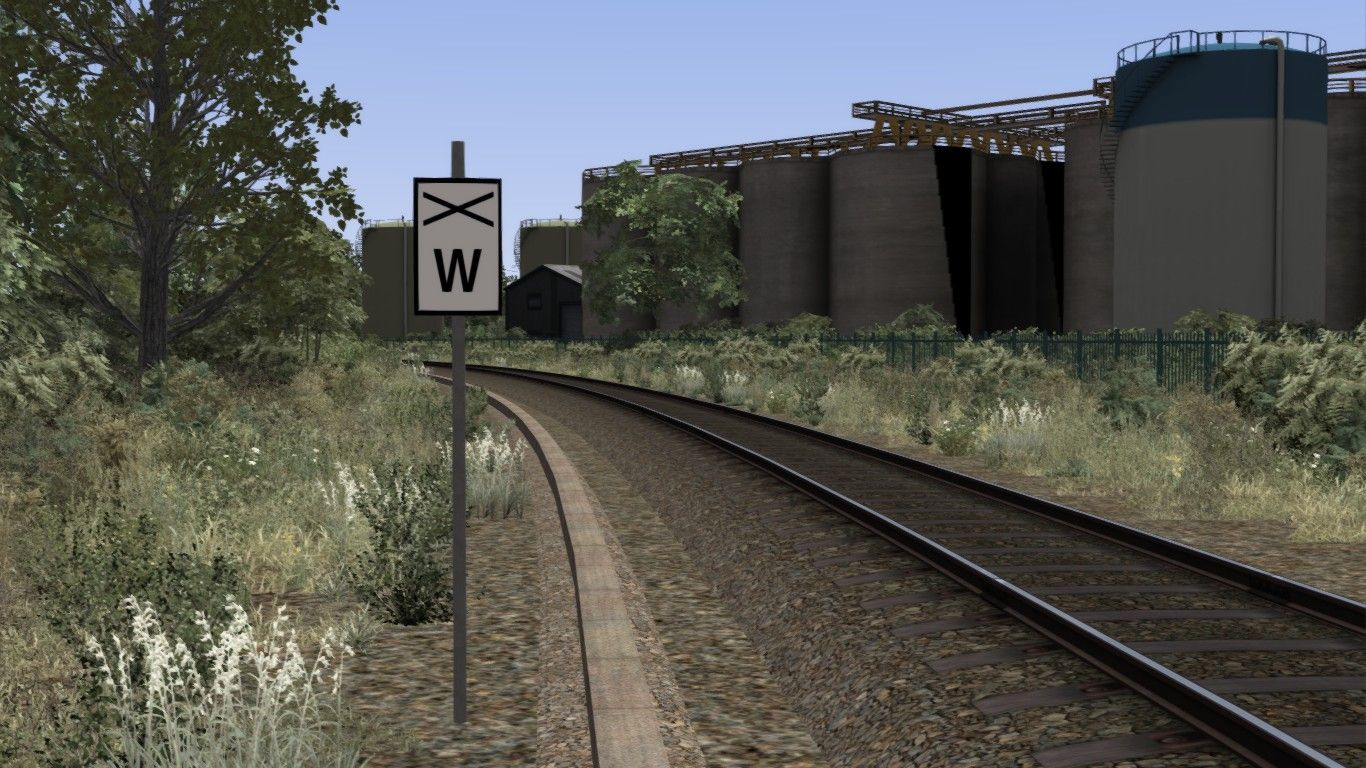 Image depicting a lineside continuous whistle sign.