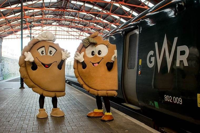Image showing people dressed in Cornish Pasty costumes