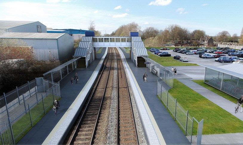 Image showing artists impression of one of the new stations