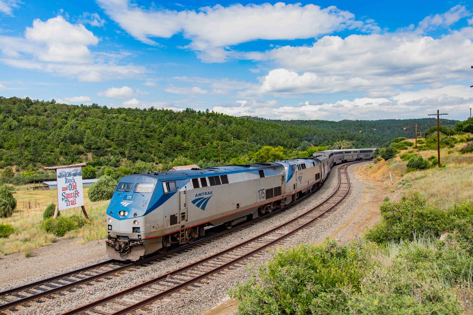 Image showing Amtrak train on the Santa Fe Trail