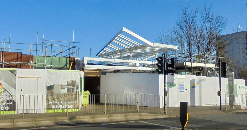 Image showing ongoing works at Longbridge station