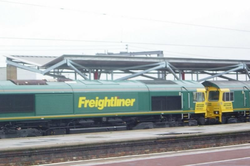 Image showing Freightliner Class 66 locomotives