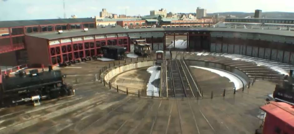 Clickable image taking you to the Steamtown webcam