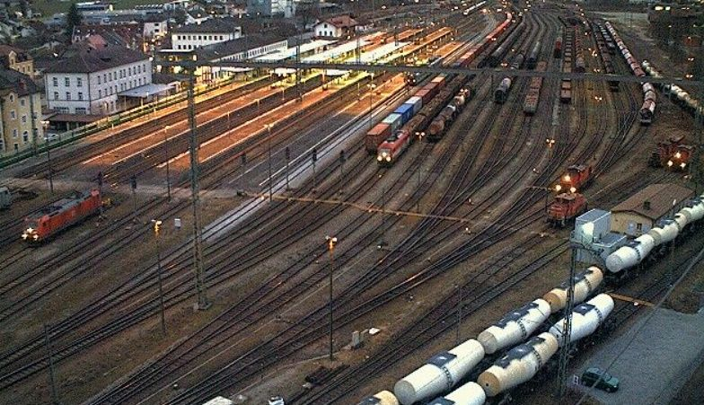 Clickable image taking you to the Plattling Bahnhof webcam