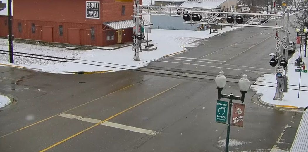 Clickable image taking you to the Bangor webcam