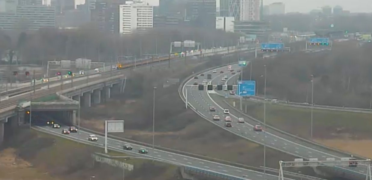 Clickable image taking you to the Amsterdam-Amstel webcam