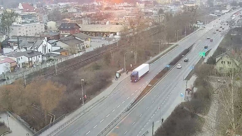Clickable image taking you to the Wejherowo webcam