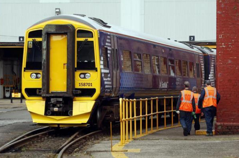 Image showing ScotRail DMU at Springburn depot