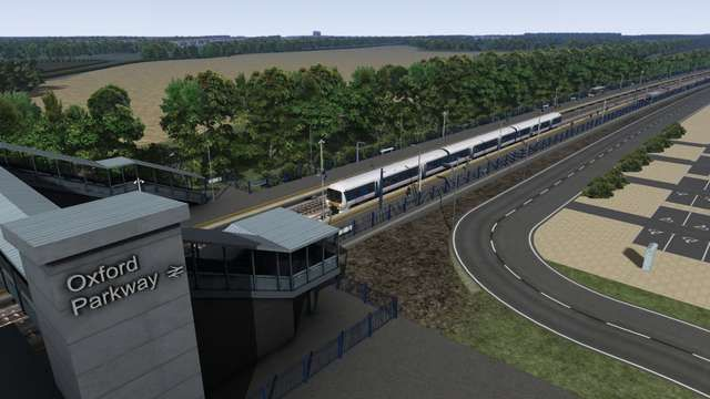 Image showing screenshot of the Oxford to Bicester extension to the Western Mainlines route