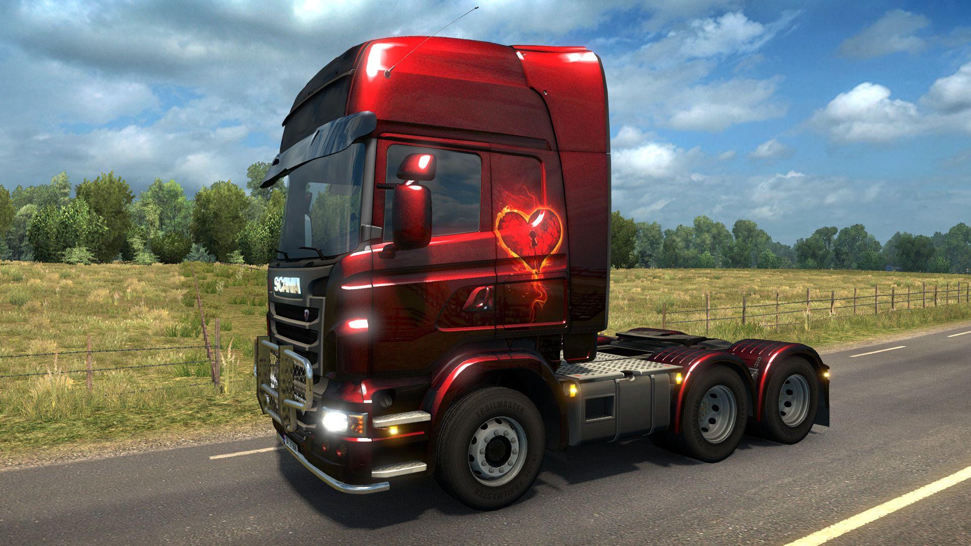 Euro Truck Simulator 2 - Valentine's Paint Jobs Pack