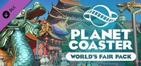 Clickable image taking you to the Steam store page for the World's Fair Pack DLC for Planet Coaster