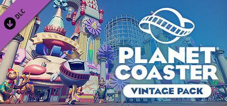 Clickable image taking you to the Steam store page for the Vintage Pack DLC for Planet Coaster