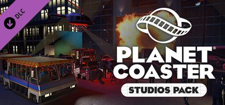 Clickable image taking you to the Steam store page for the Studios Pack DLC for Planet Coaster