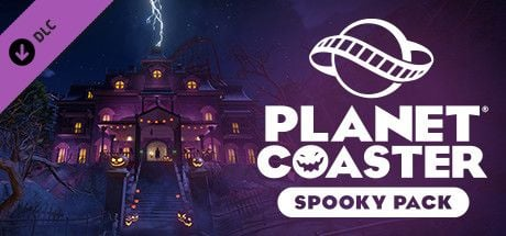 Clickable image taking you to the Steam store page for the Spooky Pack DLC for Planet Coaster