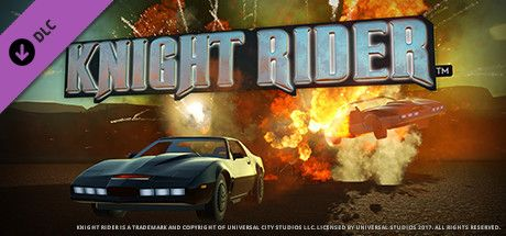 Clickable image taking you to the Steam store page for the Knight Rider™ K.I.T.T. Construction Kit DLC for Planet Coaster