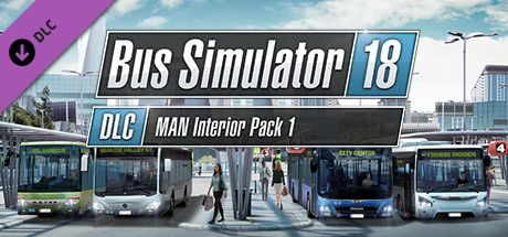 Clickable image taking you to the Steam store page for the MAN Interior Pack 1 DLC for Bus Simulator 18