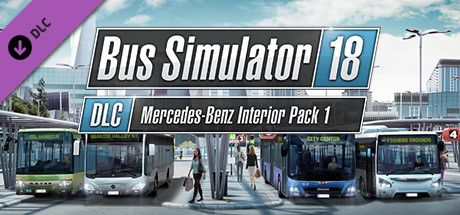 Clickable image taking you to the Steam store page for the Mercedes-Benz Interior Pack 1 DLC for Bus Simulator 18