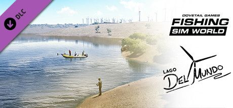 Clickable image taking you to the Steam store page for the Lago del Mundo DLC for Fishing Sim World