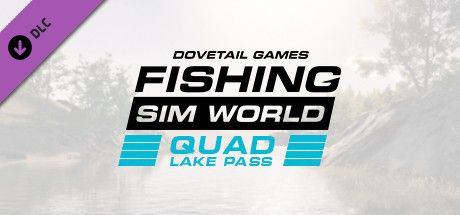 Clickable image taking you to the Green Man Gaming store page for the Quad Lake Pass DLC for Fishing Sim World