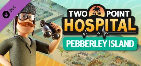 Clickable image taking you to the Steam store page for the Pebberley Island DLC for Two Point Hospital
