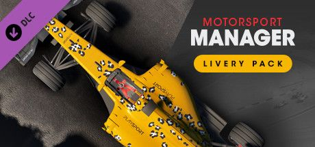 Clickable image taking you to the Steam store page for the Livery Pack DLC for Motorsport Manager