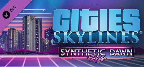 Clickable image taking you to the Green Man Gaming store page for the Synthetic Dawn Radio DLC for Cities: Skylines