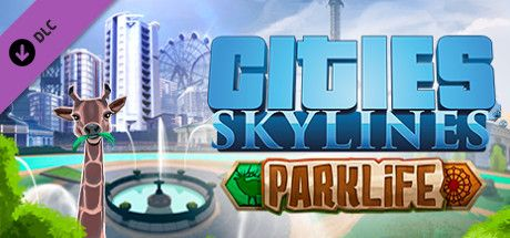 Clickable image taking you to the Green Man Gaming store page for the Parklife DLC for Cities: Skylines