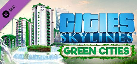 Clickable image taking you to the Green Man Gaming store page for the Green Cities DLC for Cities: Skylines