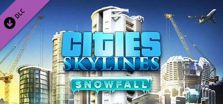 Clickable image taking you to the Green Man Gaming store page for the Snowfall DLC for Cities: Skylines