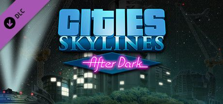 Clickable image taking you to the Green Man Gaming store page for the After Dark DLC for Cities: Skylines