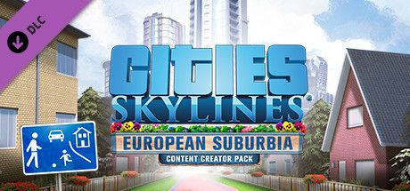 Clickable image taking you to the Green Man Gaming store page for the Content Creator Pack: European Suburbia DLC for Cities: Skylines