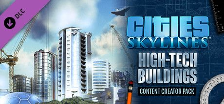 Clickable image taking you to the Green Man Gaming store page for the Content Creator Pack: High-Tech Buildings DLC for Cities: Skylines