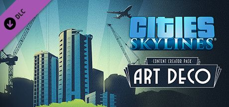 Clickable image taking you to the Green Man Gaming store page for the Content Creator Pack: Art Deco DLC for Cities: Skylines