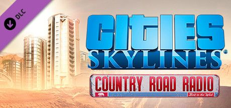 Clickable image taking you to the Green Man Gaming store page for the Country Road Radio DLC for Cities: Skylines