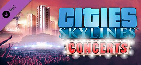 Clickable image taking you to the Green Man Gaming store page for the Concerts DLC for Cities: Skylines