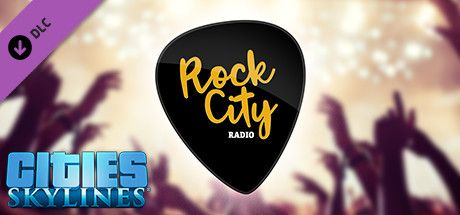Clickable image taking you to the Green Man Gaming store page for the Rock City Radio DLC for Cities: Skylines