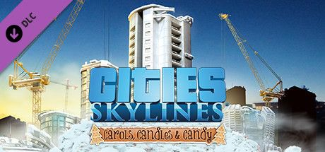 Clickable image taking you to the Steam store page for the Carols, Candles and Candy DLC for Cities: Skylines