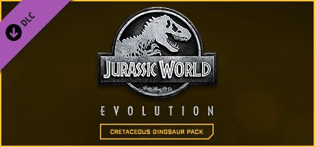 Clickable image taking you to the Steam store page for the Cretaceous Dinosaur Pack DLC for Jurassic World Evolution