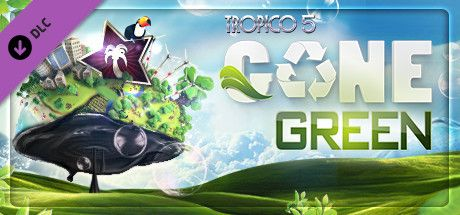 Clickable image taking you to the Green Man Gaming store page for the Gone Green DLC for Tropico 5