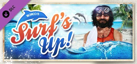 Clickable image taking you to the Green Man Gaming store page for the Surfs Up! DLC for Tropico 5