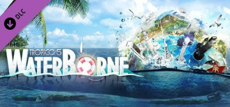 Clickable image taking you to the Green Man Gaming store page for the Waterborne DLC for Tropico 5