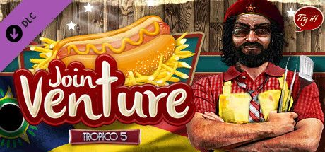 Clickable image taking you to the Green Man Gaming store page for the Joint Venture DLC for Tropico 5