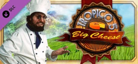 Clickable image taking you to the Green Man Gaming store page for The Big Cheese DLC for Tropico 5